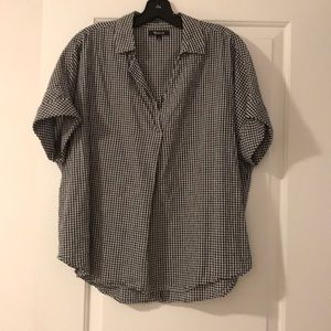 Madewell courier button back top